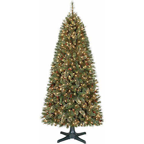 Holiday Time Prelit 7 Feet Brookfield Cashmere Fir Quick Set