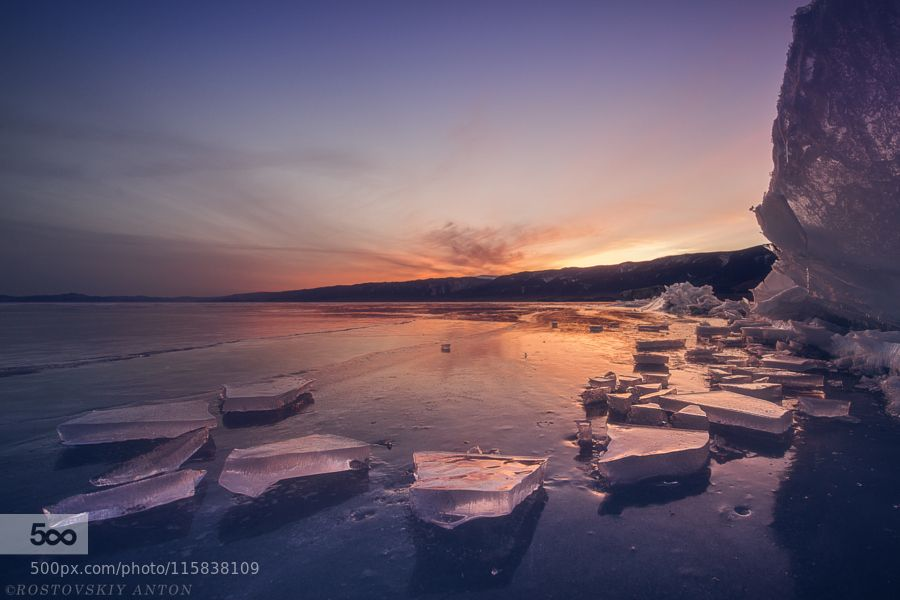 Ice of Baikal Russia by Rostov #nature