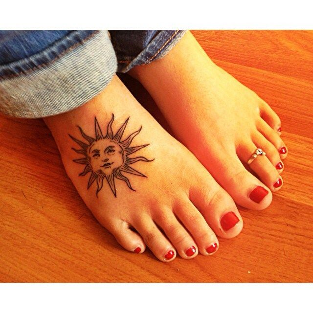 sun foot tattoo: Trendy sun foot tattoo design for women tattoos pinterest