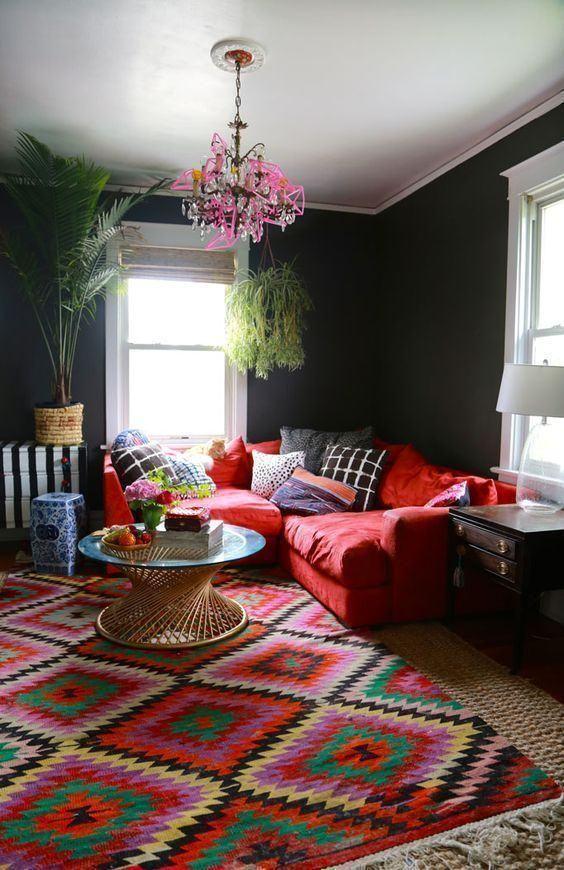 60 Zimmer mit roten Sofas - Fotos & Inspirationen | Rote ...