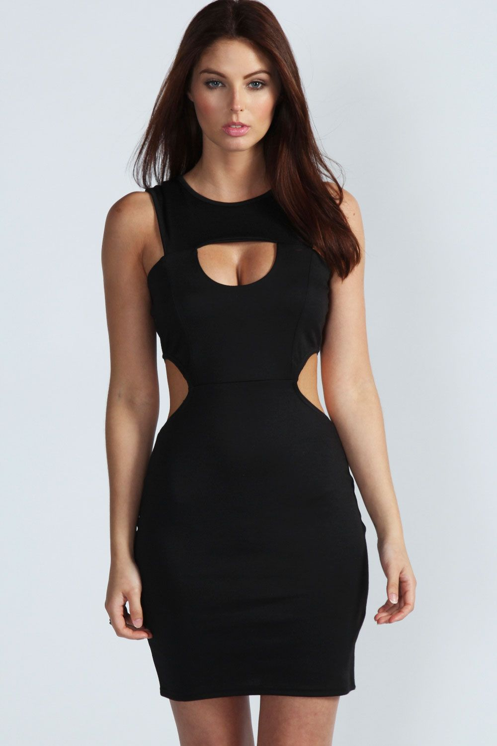 Black dress bodycon cutout
