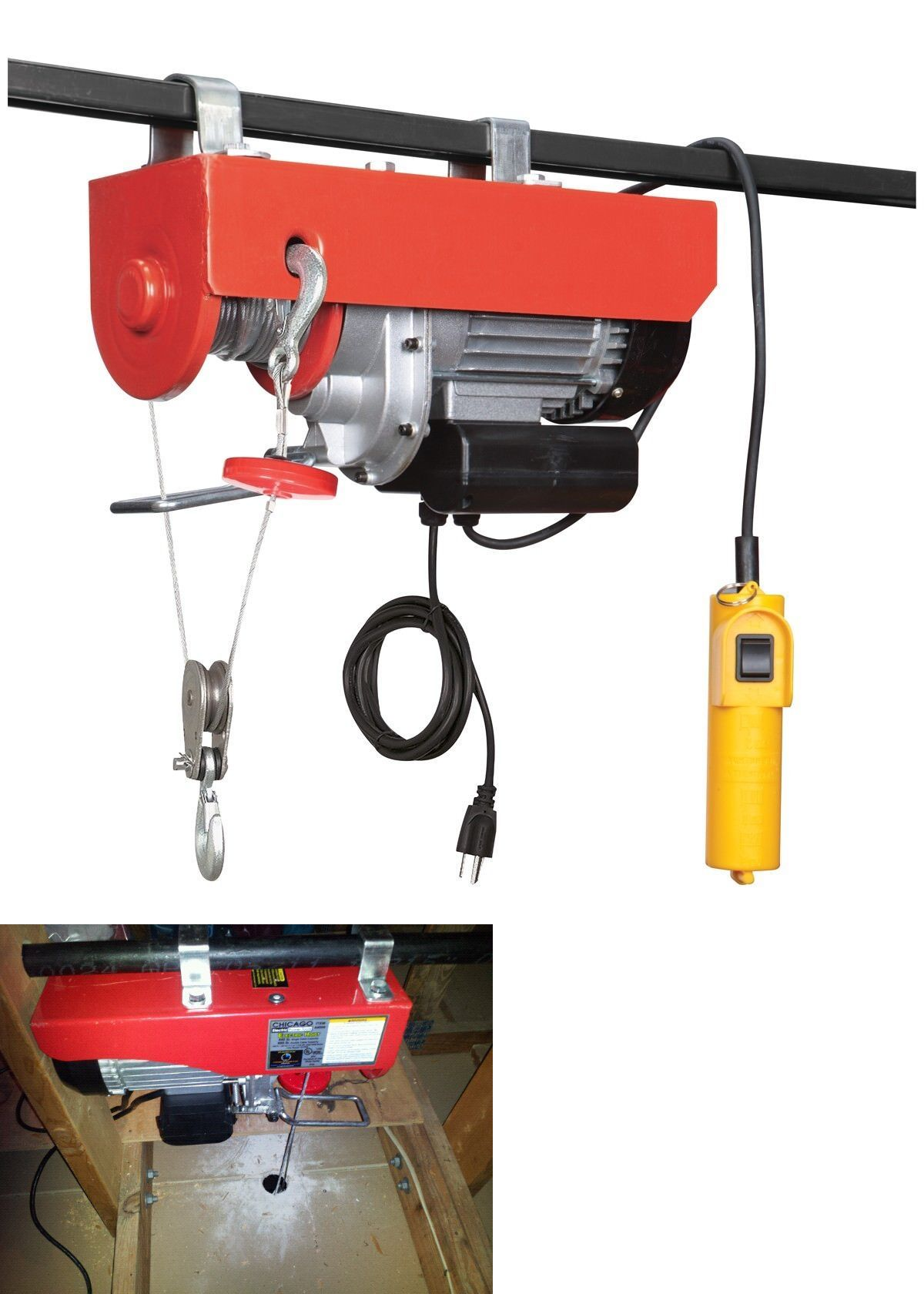 Winches 66798: 880 Lb 110 Volt Electric Overhead Power Lift Hoist