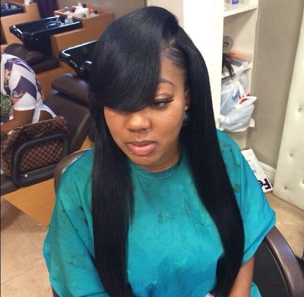 16+ Long weave with a bang trends
