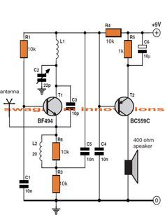 Simple FM Radio circuit with speaker | Electronica | Pinterest ...