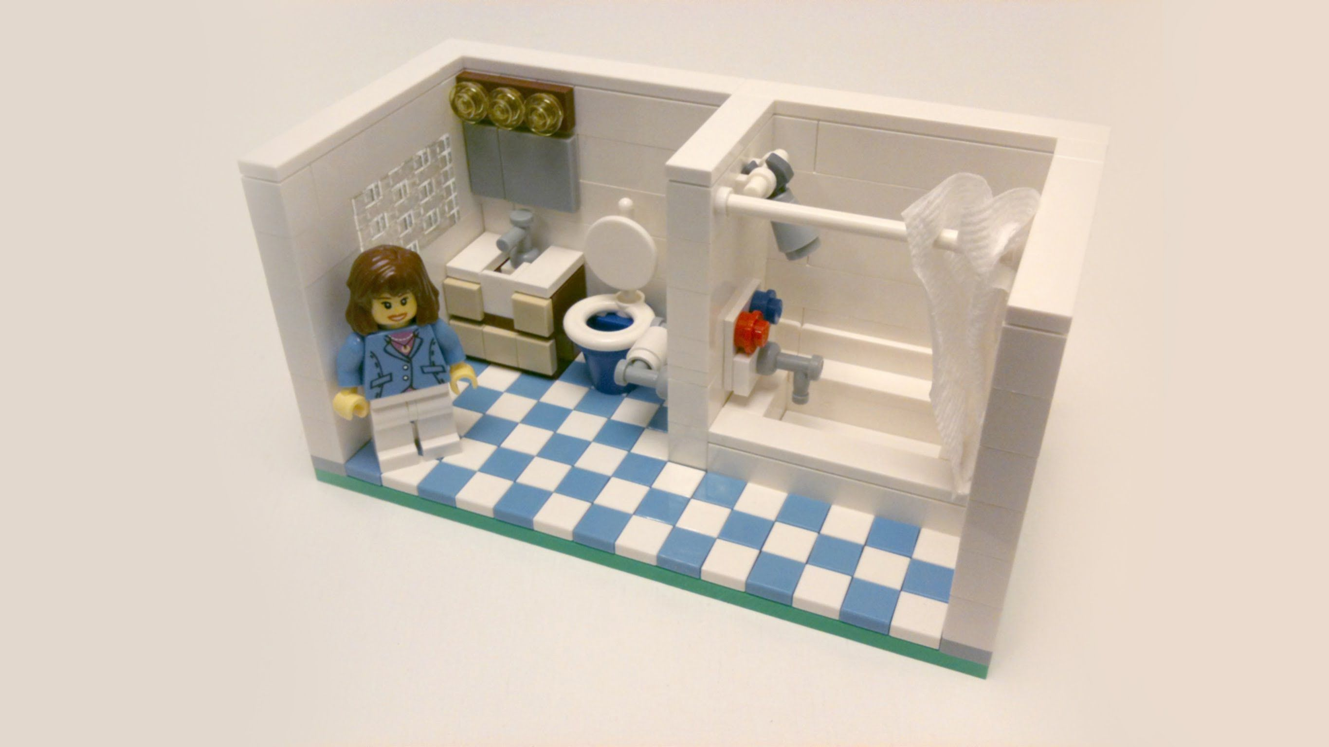 Lego Bedroom Furniture a complete tutorial on a guest bathroom which includes, a block