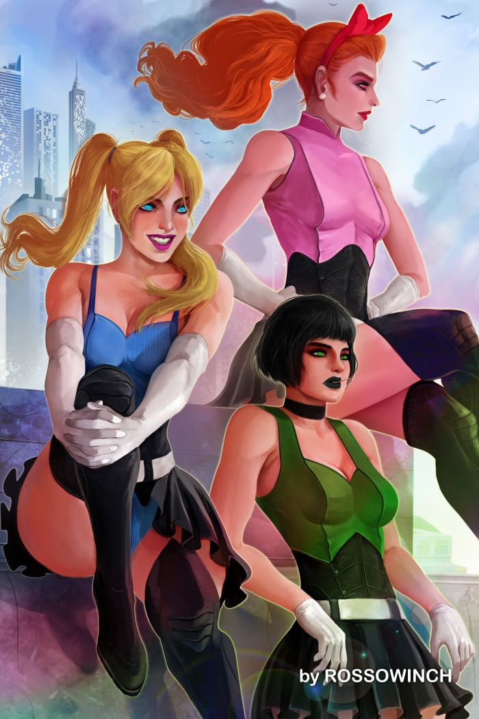 powerpuff girls grown up and nake
