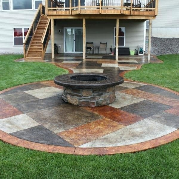 Patio Ideas With Square Fire Pit Pergola Square Concrete ... on Square Concrete Patio Ideas  id=94874