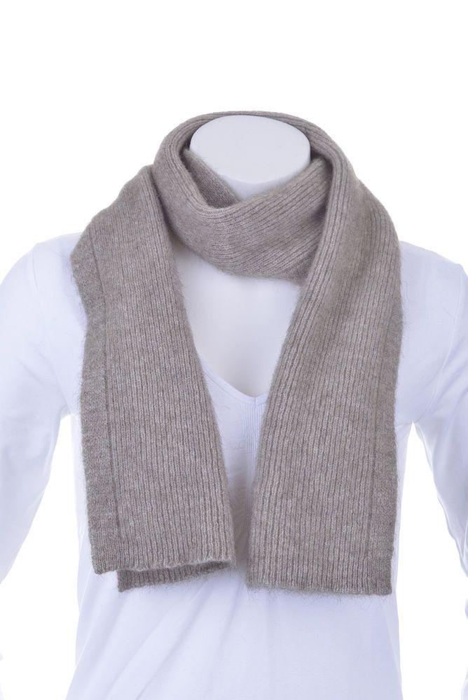 3165f95b2bd New Zealand Possum Fur Merino Wool Knitwear Fine Rib Scarf