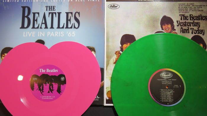 Online Veilinghuis Catawiki The Beatles Great Batch Of 2lp S And 1 Heartshaped 7inch Single All On Coloured Vinyl Yesterday And Today Butchersleeve Liv