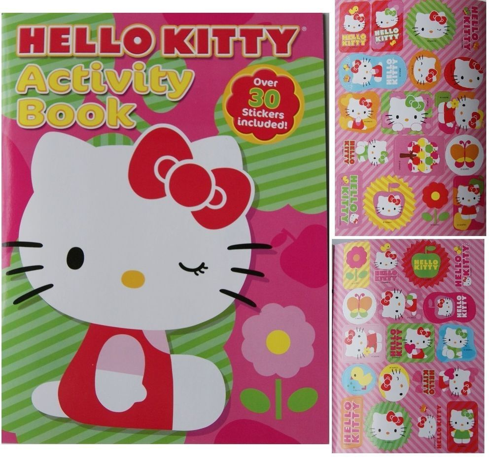 Hello Kitty Activity Book 30 Stickers 9781615682522 Ebay Hello Kitty Coloring Hello Kitty Hello Kitty Photos