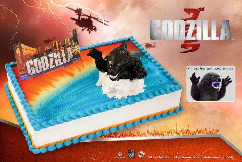Godzilla Cake Toppers Toys