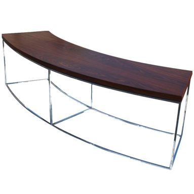 Milo Baughman For Thayer Coggin Curved Sofa Table Bench In