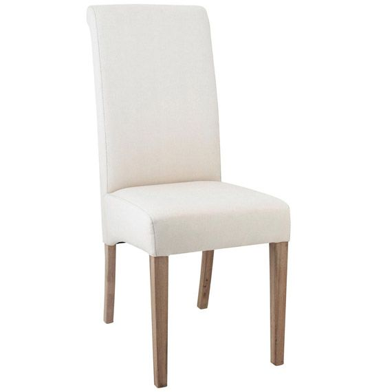 Echo High Back Dining Chair, Oak Legs