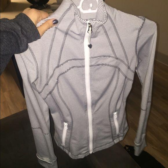 Lulu lemon define jacket Grey and white striped Worn couple times - define excellent