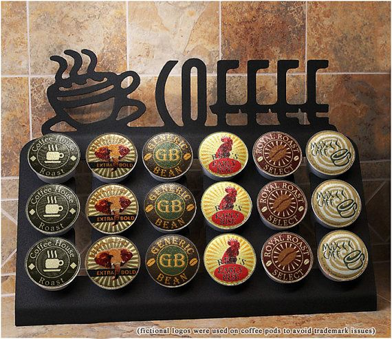Keurig K cup drawer Stand 18 k cup holder Countertop Decor