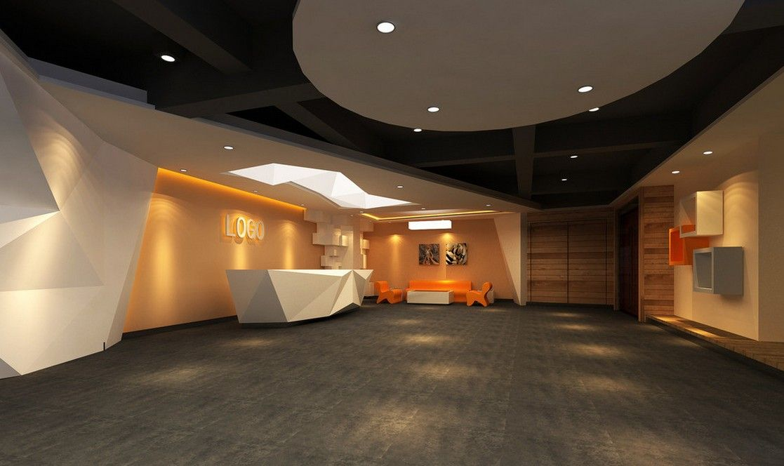 Creative company reception hall interior design random for Hall interior design