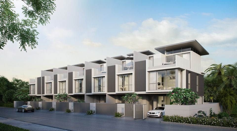 Modern 3 storey townhouse in laguna area at excellent for Modern house price