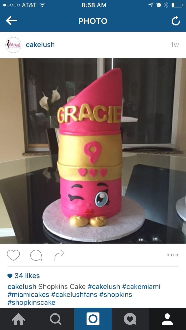 Shopkins Lippy Lip Cake | Girls birthday | Pinterest | Acuario ...
