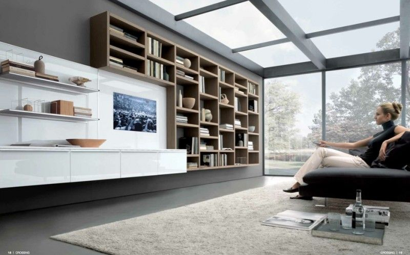 MisuraEmme Futuristic Furnitures For Modern Living Room Designs Grey With Glassed Roof And