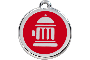 Small Red Fire Hydrant Pet Name Tag ID Animal Premium Quality Best Friend Identification Charm Enamel Stainless Steel Pendant