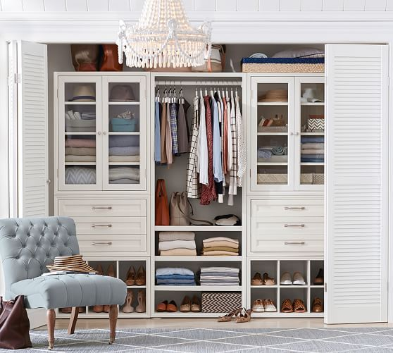 Build Your Own Sutton Modular Cabinets Pottery Barn Closet