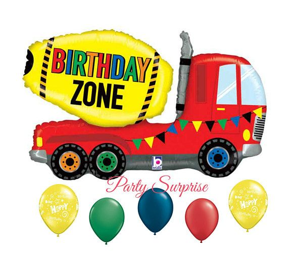 Truck Birthday Balloon Big Truck Balloon Birthday Zone Party