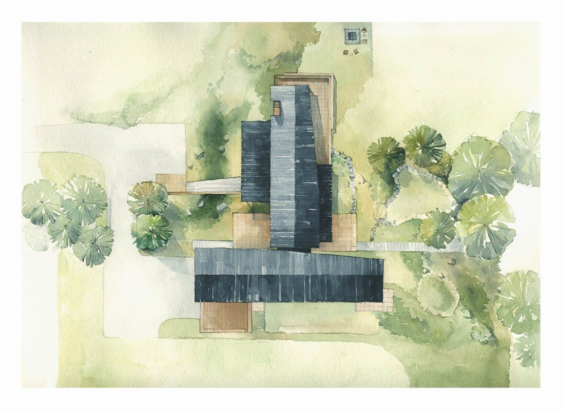 Landscape architecture watercolor google search fonts for Architectural site plan drawing