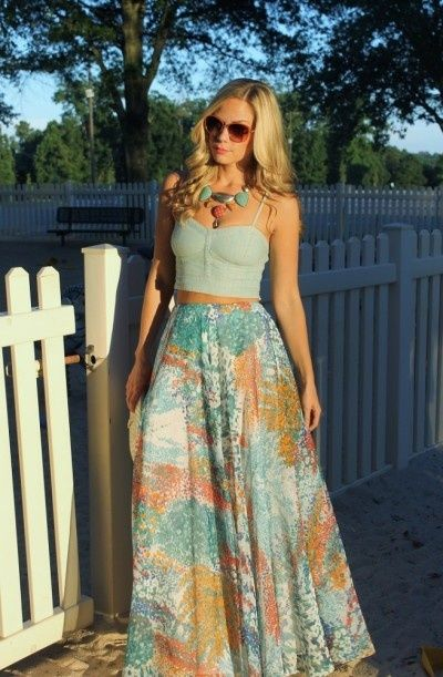 Top 25 ideas about Maxi Skirts on Pinterest | Summer maxi skirts ...