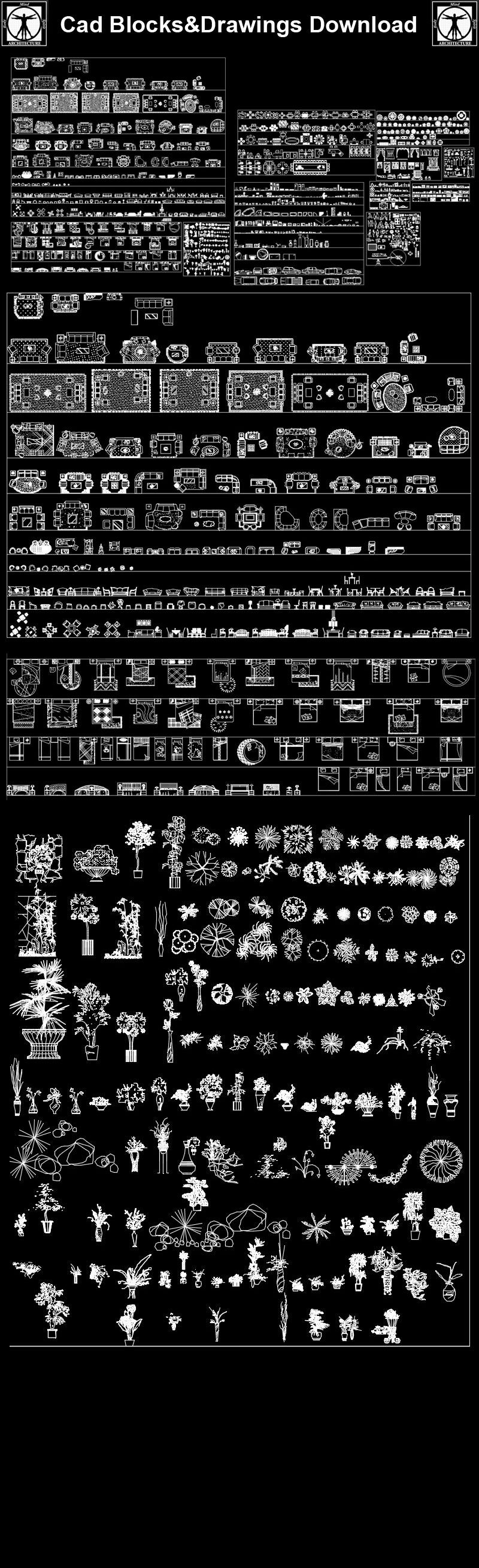 Mix Cad Blocks Collection Cad Drawings Downloadcad Blocks