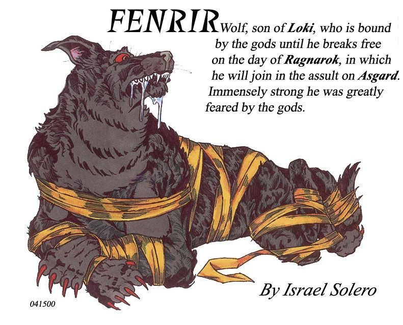 Fenrir Norse Mythology   Fenrir (Norse Myth), in Israel Algarin, S's (08) Norse ...