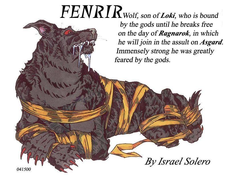 fenrir norse myth comic art mythologies amp religions