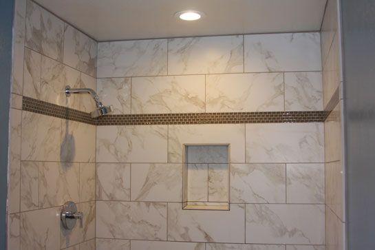 Horizontal shower tile porcelain tiles on for Horizontal tile shower