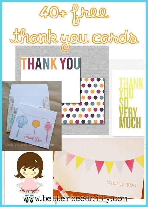 Thank You Card, Free Printable Crafts Pinterest Free printable
