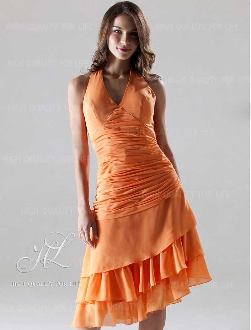 robe de cocktail 2012 robe demoiselle d 39 honneur 2012 col en v asym trique orange http www. Black Bedroom Furniture Sets. Home Design Ideas