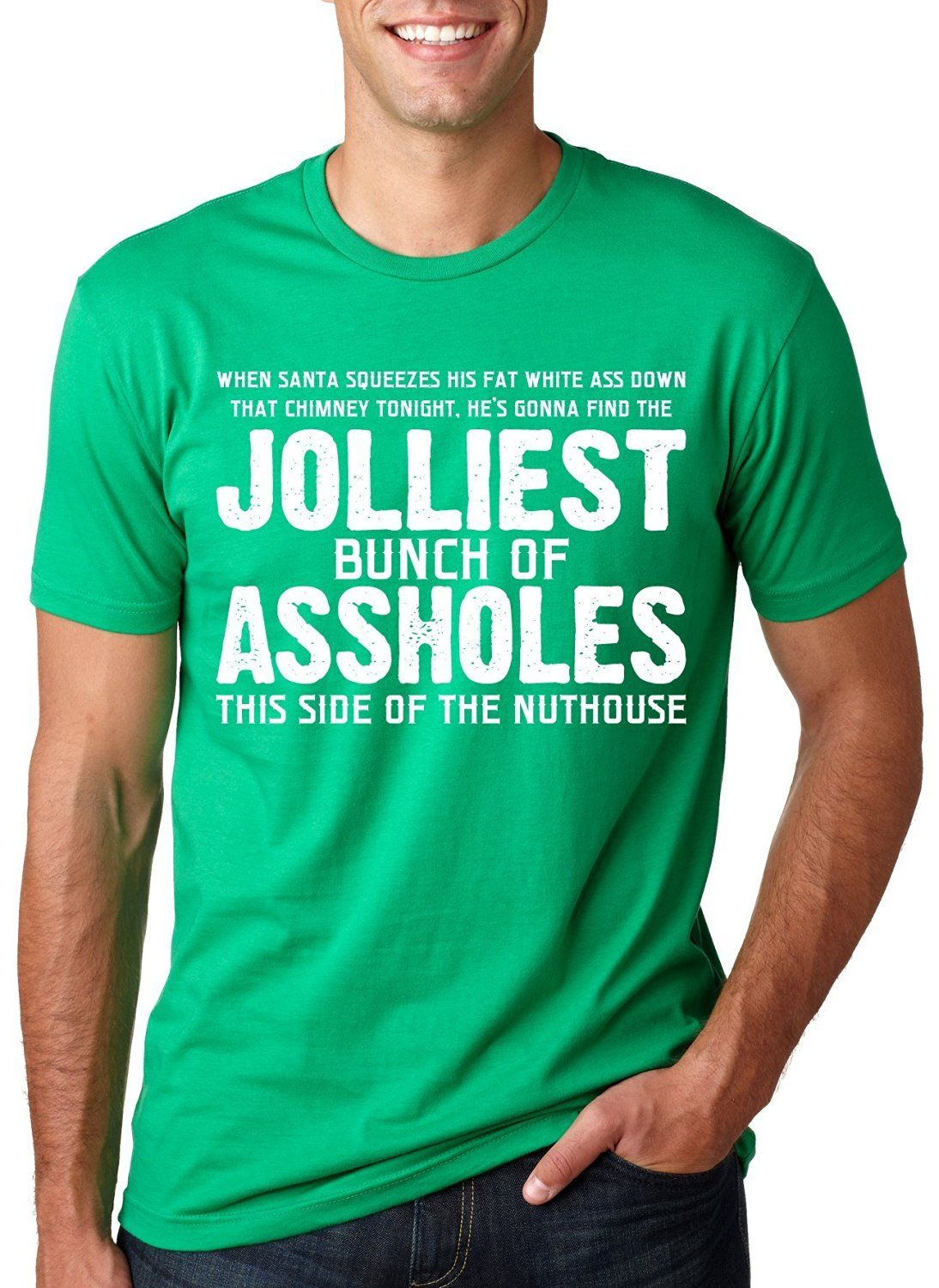 9b67e650ecd Jolliest Bunch of A-holes T-Shirt Funny Christmas Vacation Tee  Amazon.ca   Clothing   Accessories