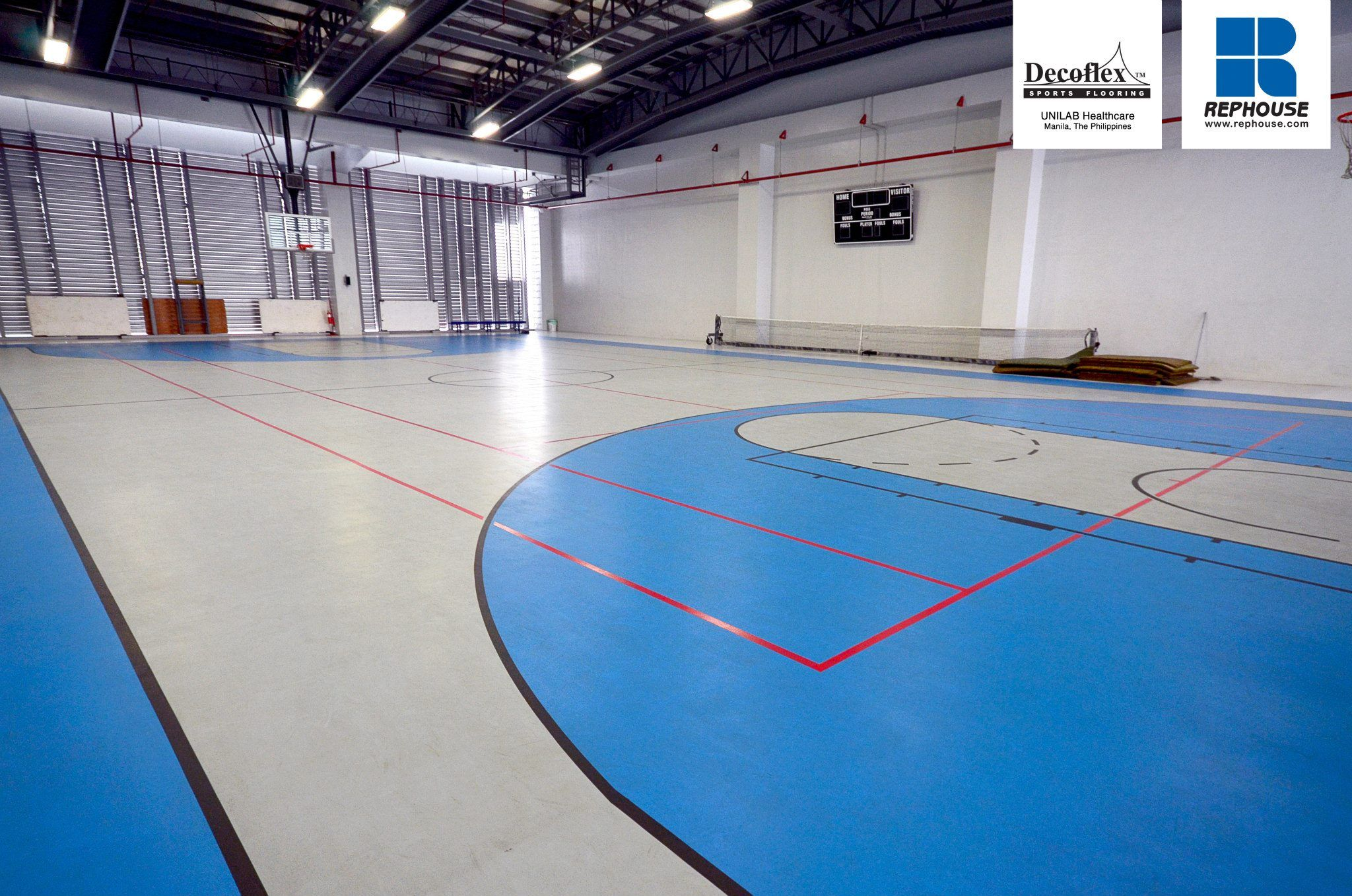 Decoflex Universal Indoor Seamless Polyurethane Sports Flooring Unilab The Philippines Indoor Sports Indoor Sports