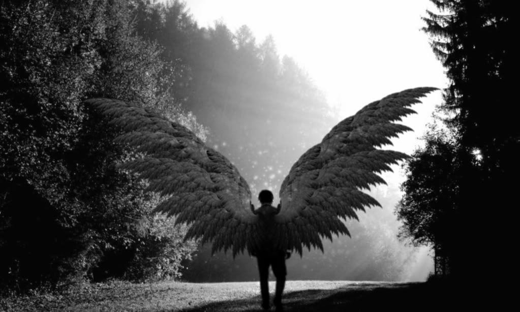 Черно белые картинки ангелов мужчин, защиты детей