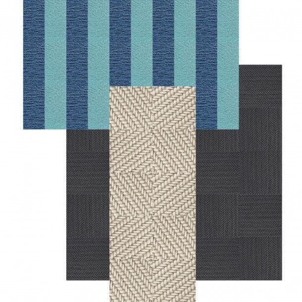 This Area Rug Features Roadside Attraction In Haze Suit Yourself In Slate Made You Look In Light Blue And Ocean This Rugs Area Rugs Contemporary Area Rugs