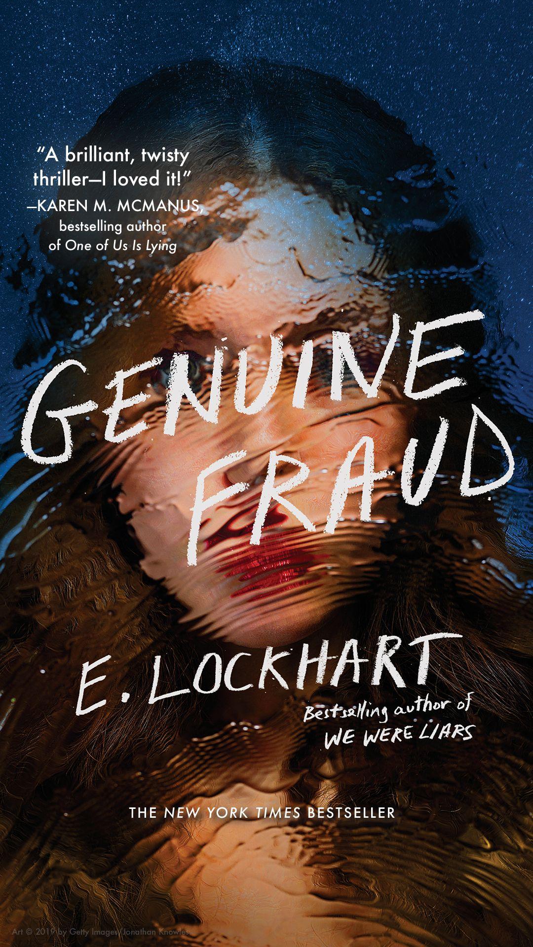 Genuine fraud paperback jacket novel by e lockhart