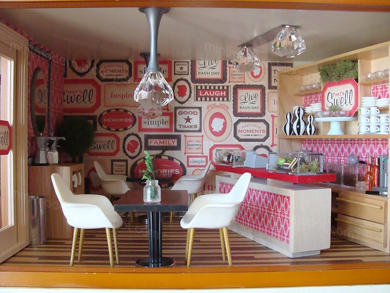 Mini Modern - dining room. Dollhouse InteriorsModern ...