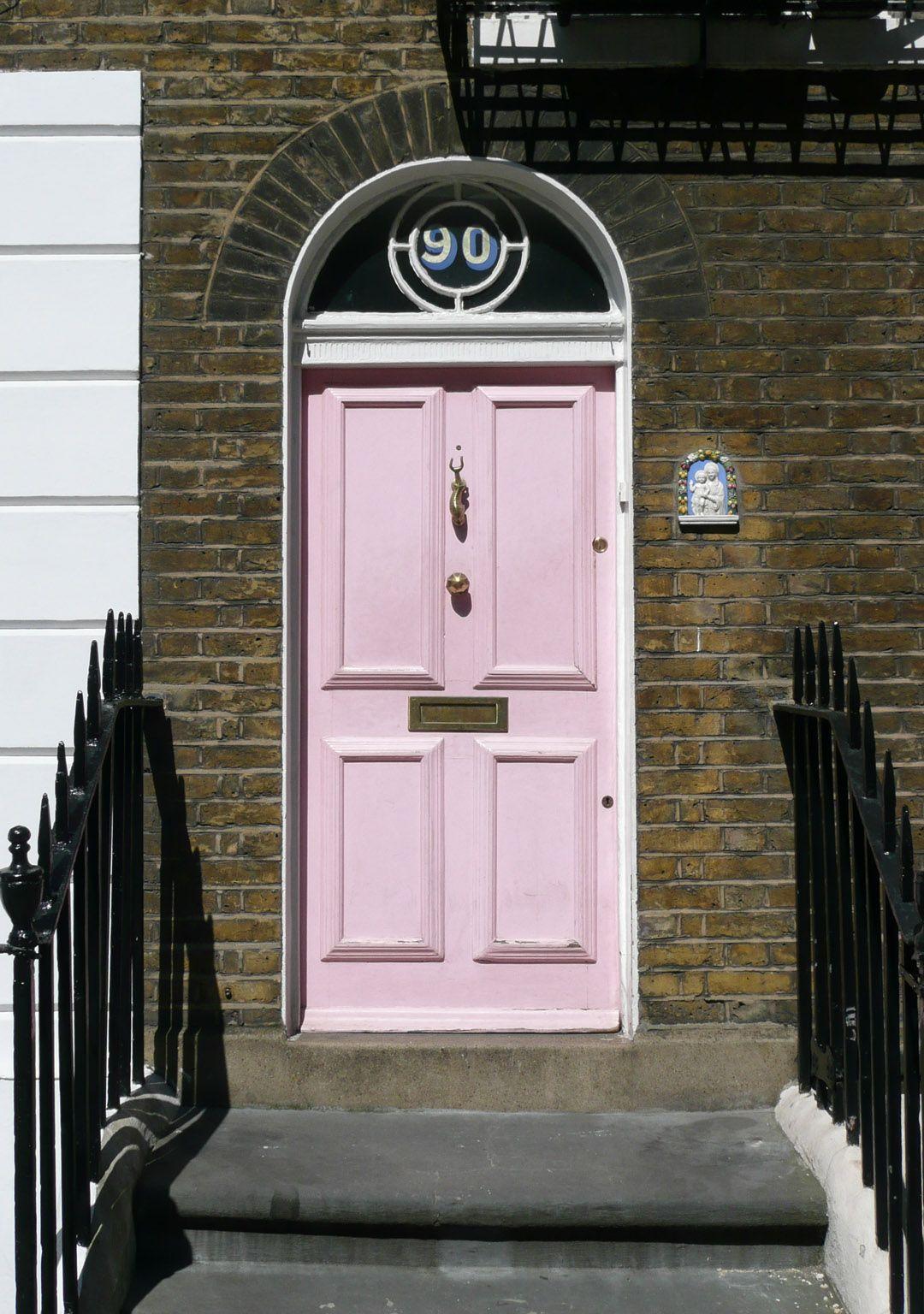 House number in window above front door vinyl decal