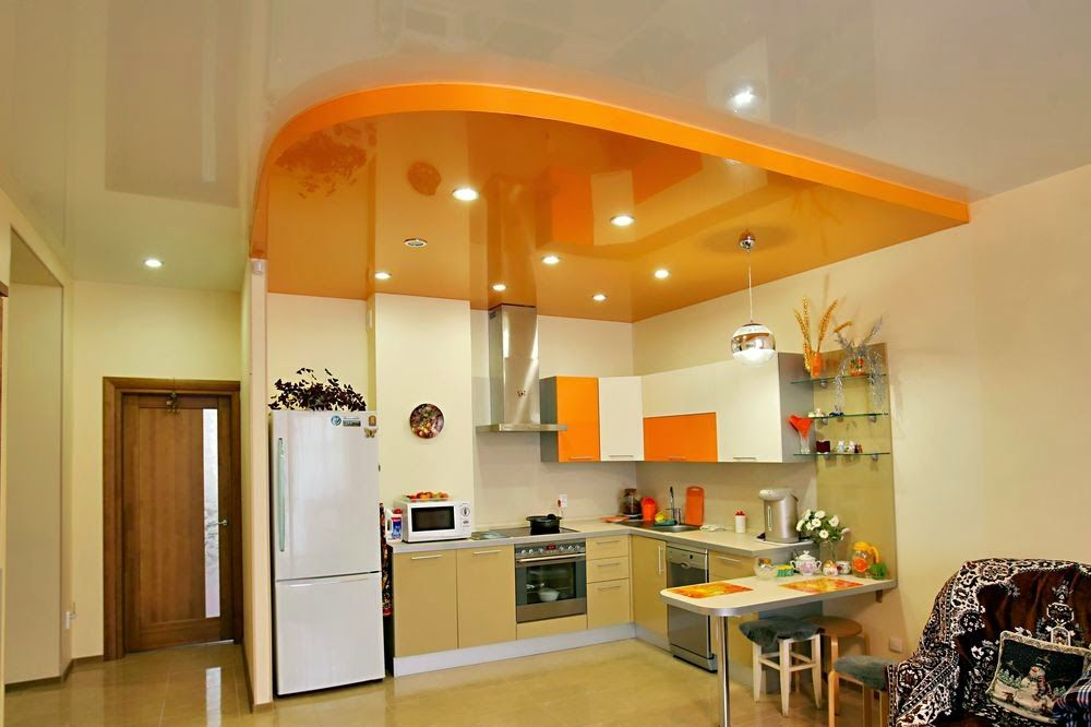 New trends for false ceiling designs for kitchen ceilings for Pop design for kitchen