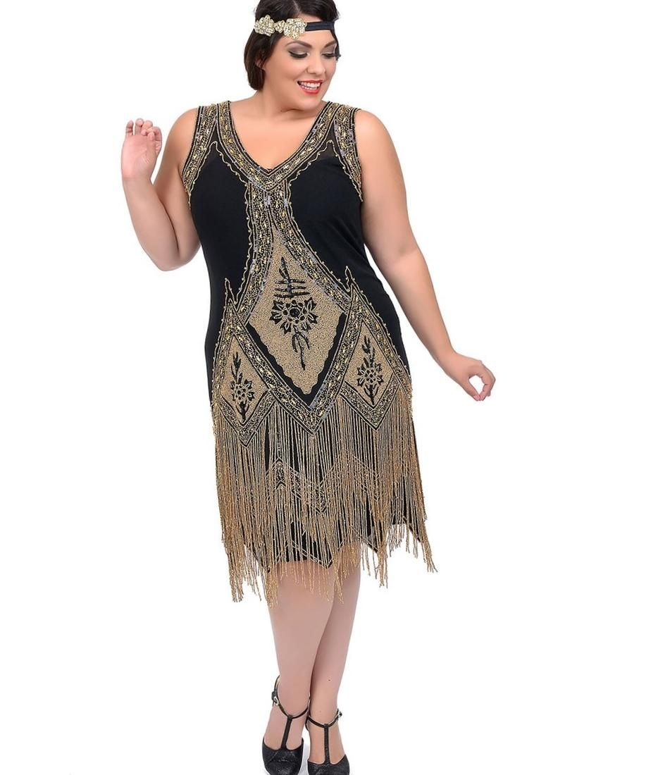 Plus size flapper dress costume - http://pluslook.eu/wedding/plus ...