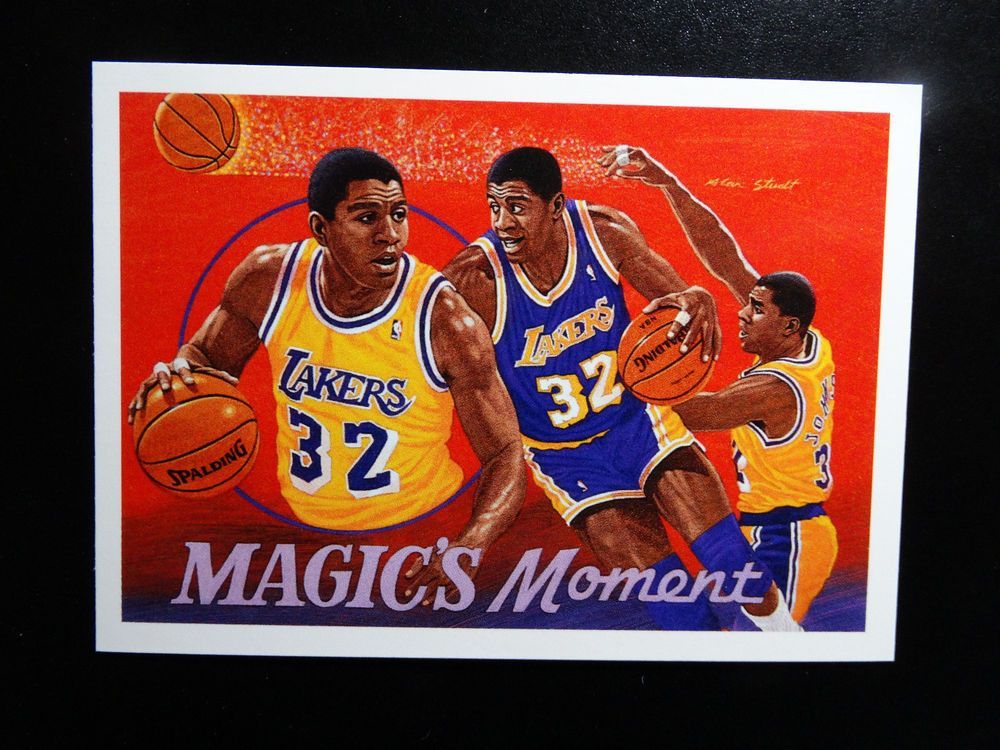 1991 92 Upper Deck 29 Magic Johnson Moments Los Angeles Lakers