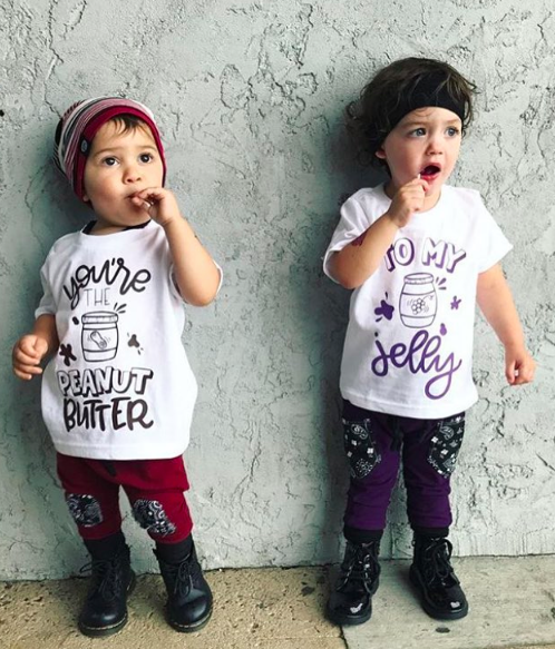 23d9997107eb You're the peanut butter to my jelly! Adorable matching kid's shirts for  siblings / cousins/ besties / twins. Trendy stylish kid's clothes from ...