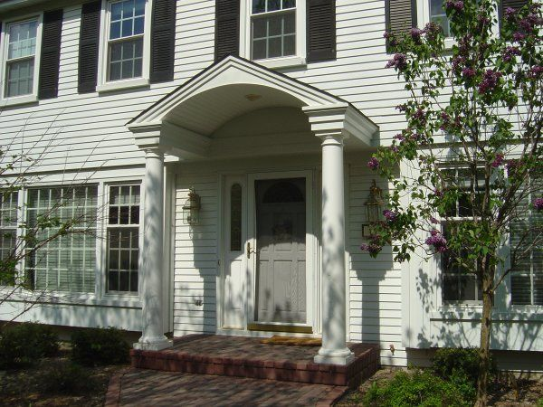 How To Add Curb Appeal With A Portico Four Generations One Roof Portico Design House With Porch Portico