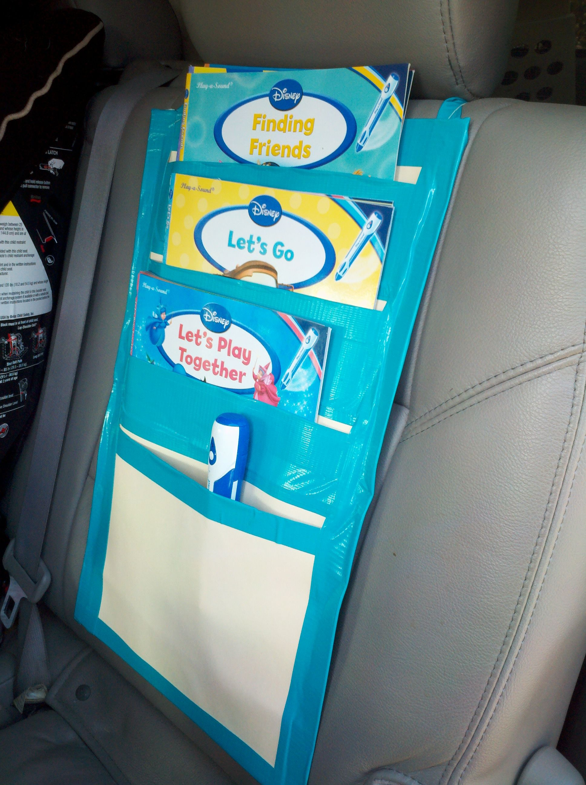 Car Book Organizer Kind Of Ugly But Super Useful Got This Idea From Another Pinterest Follower Theirs Was Made Out Cloth Is So Cheap