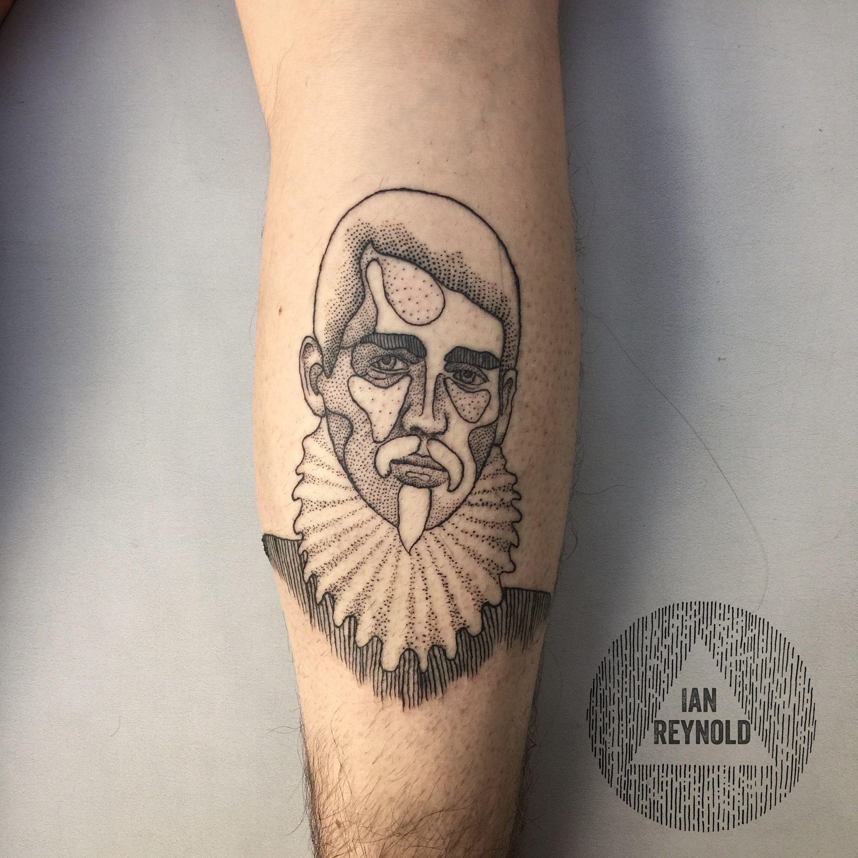 Jacobean Ruffian Blackwork Tattoo Dotwork Tattoo Pointillist Tattoo Pointillism Tattoo Pointillistic Tattoo Pointillism Tattoo Line Tattoos Etching Tattoo