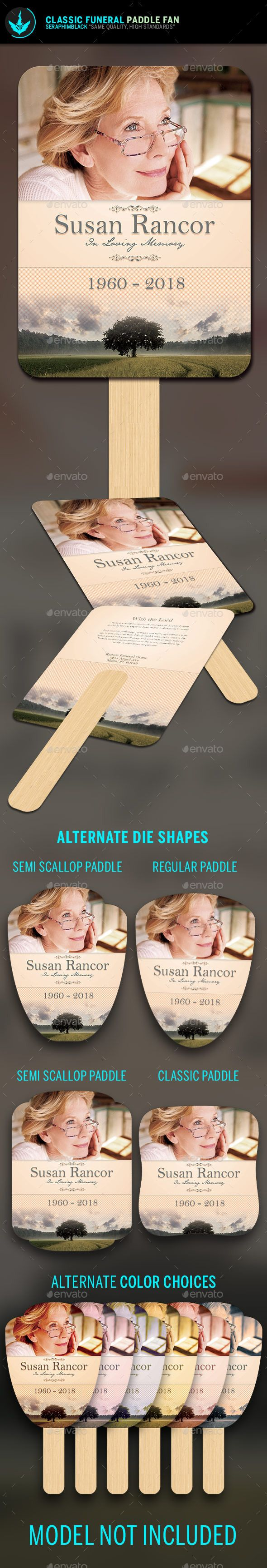 classic funeral paddle fan template pinterest funeral template