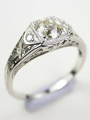 Vintage Engagement Ring With Xo Motif Rg 3503 Vintage Wedding